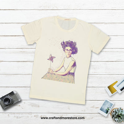 T-shirt Pinwheel women Tops tees outfits Unisex Round neck