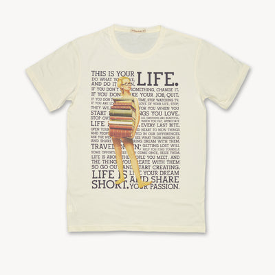 T-shirt LIFE Tops tees outfits Unisex Round neck