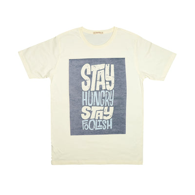 T-shirt Stay hungry Stay foolish Tops tees outfits Unisex Round neck