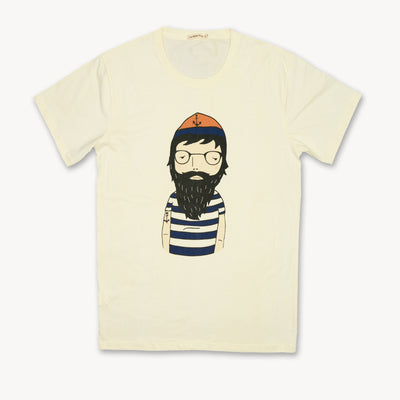 T-shirt Beard Man Tops tees outfits Unisex Round neck