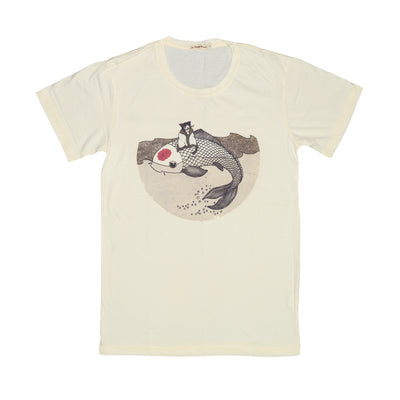 T-shirt Master Cat & Koi Tops tees outfits Unisex Round neck