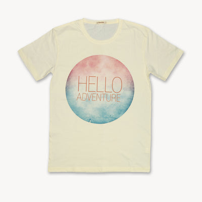 T-shirt Hello Adventure Tops tees outfits Unisex Round neck