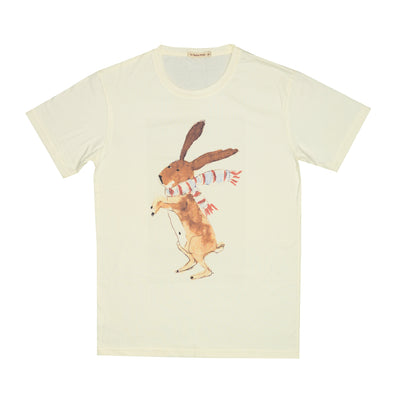T-shirt Rabbit Scarf Tops tees outfits Unisex Round neck