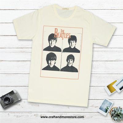 T-shirt the Beatles Pop Art Tops tees outfits Unisex Round neck