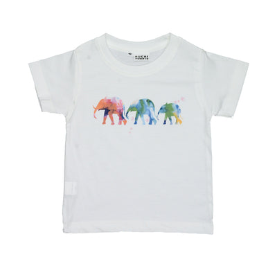 T-shirt Elephant Family Tops tees outfits Unisex Round neck