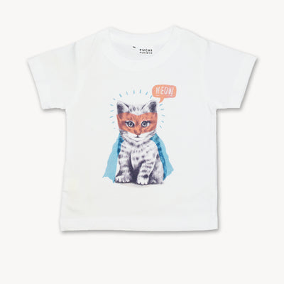 T-shirt Superhero costume Cat Tops tees outfits Unisex Round neck