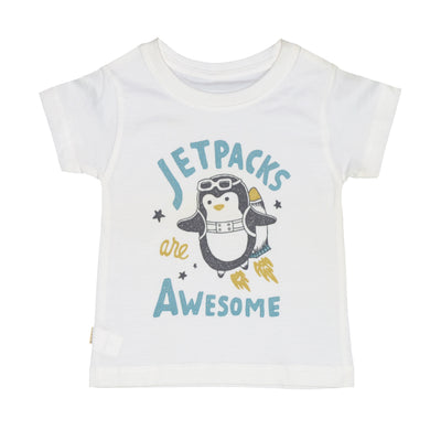 T-shirt jetpacks penguin Tops tees outfits Unisex Round neck
