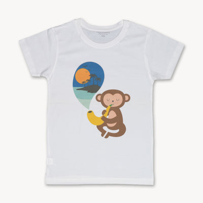 T-shirt Dreamer Monkey Saxophone Banana Tops tees outfits Unisex Round neck