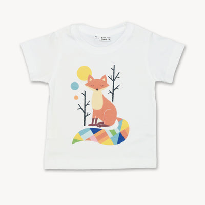 T-shirt Geometric Art happy Fox Tops tees outfits Unisex Round neck