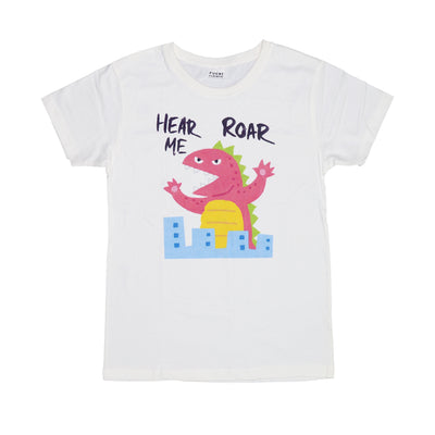 "T-shirt ""hear me roar"" Tops tees outfits Unisex Round neck"