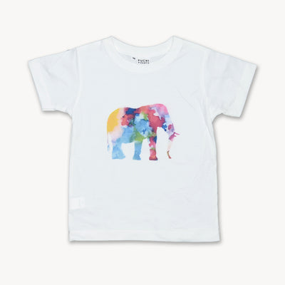 T-shirt Elephant watercolor Fine Art Tops tees outfits Unisex Round neck