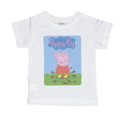 T-shirt Peppa muddy puddle Tops tees outfits Unisex Round neck
