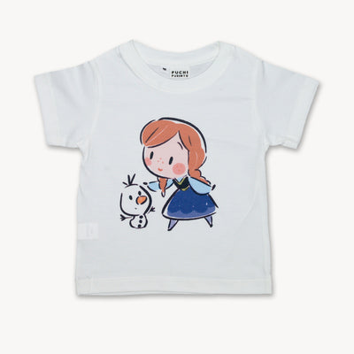 T-shirt Fan Art Anna Princess Tops tees outfits Unisex Round neck