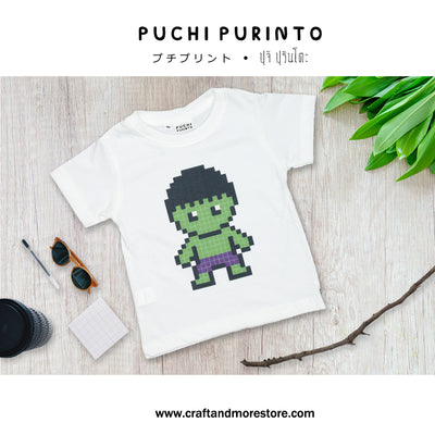 T-shirt Fan Art Hulk Pixel Art Tops tees outfits Unisex Round neck