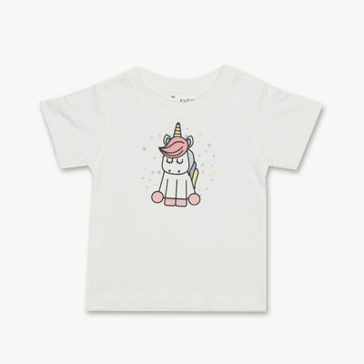 T-shirt Unicorn Star Tops tees outfits Unisex Round neck