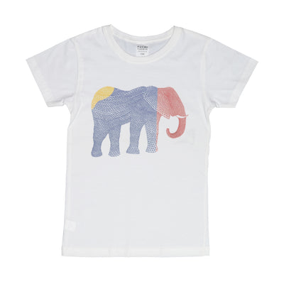 T-shirt Geometric Elephant Tops tees outfits Unisex Round neck