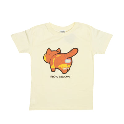 "T-shirt ""Iron Meow"" Tops tees outfits Unisex Round neck"