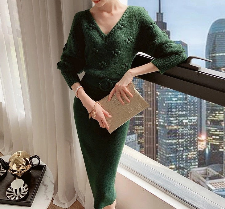 Paulina Knit Dress Green