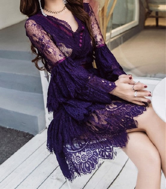 Missy Lace Dress Purple