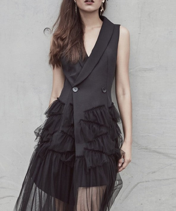 Fancy Tux Gauze Dress Vest