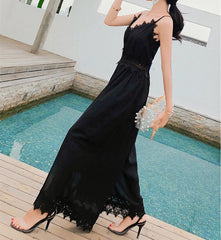 Mykonos Lace Jumpsuit Black