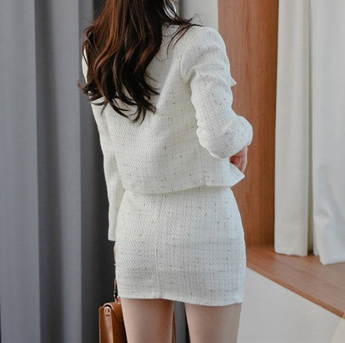 Von Tweed Skirt Suit