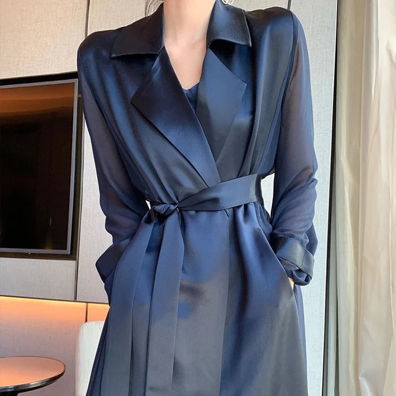 Marie Vintage Trench Coat