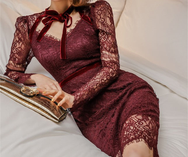 Glorious French Lace Dress
