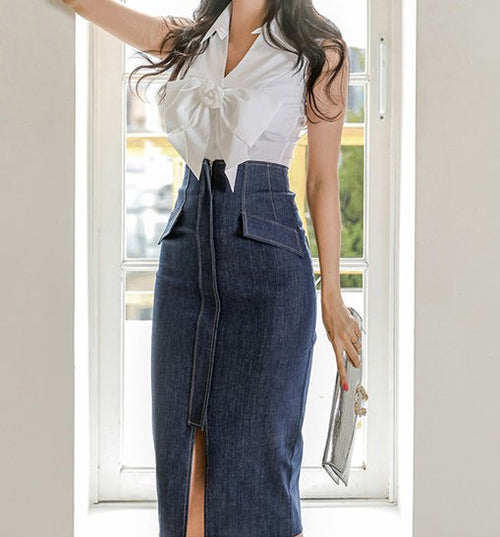 Francisca Denim Set
