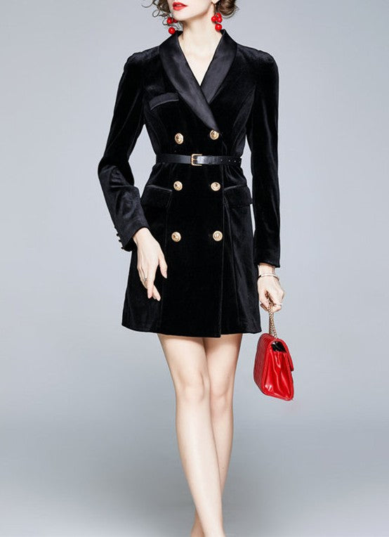 Matriarch Velvet Coat Dress