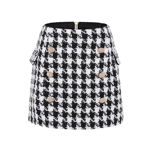 Moe Tweed Mini Skirt