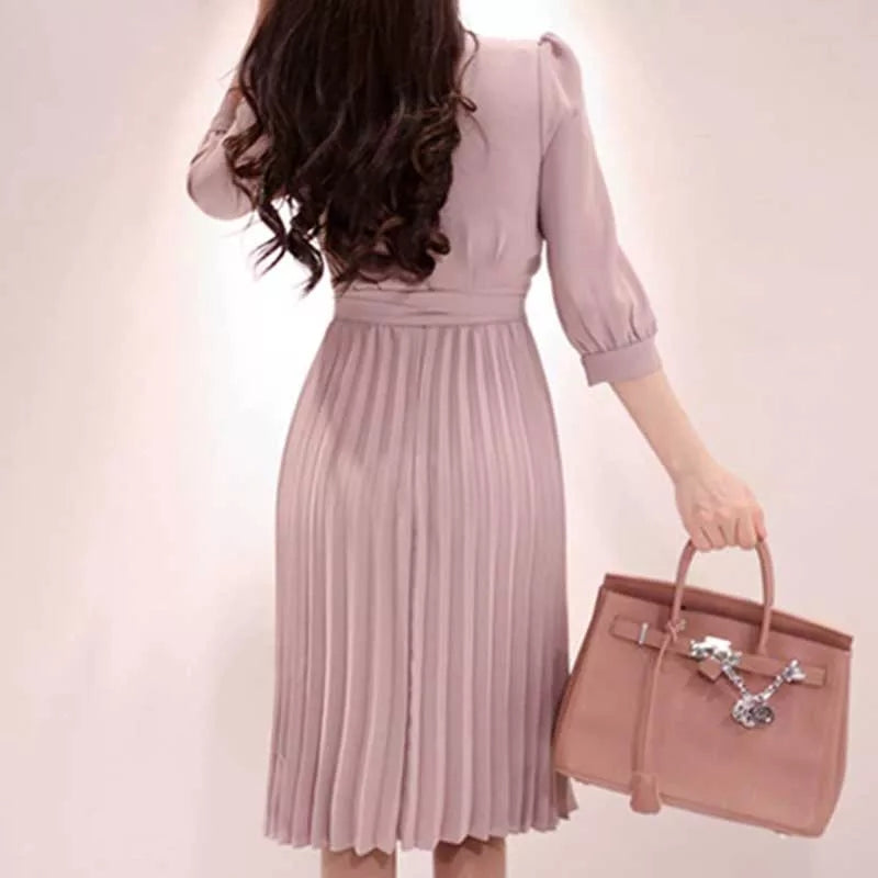 Hannah Pleated Dress