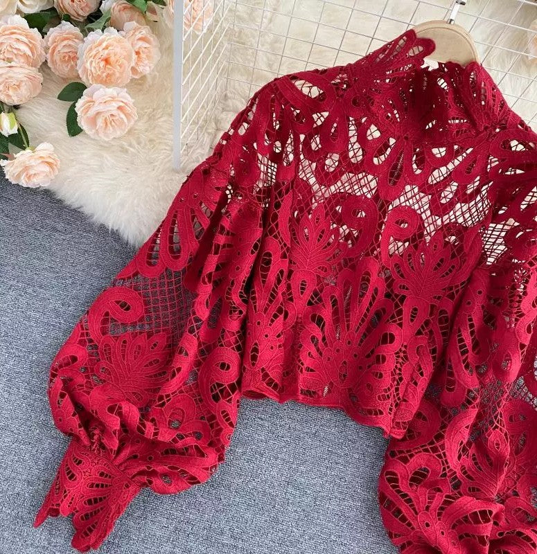 Lily of the Valley Blouse Red