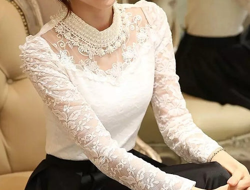 Baby Pearl Vintage Lace Blouse