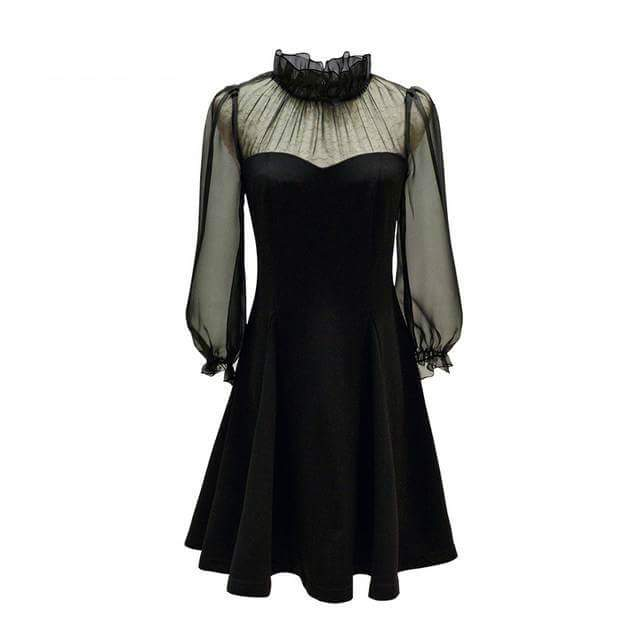 Princess Meghan Chiffon Dress Black
