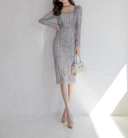 Katrina French Lace Dress