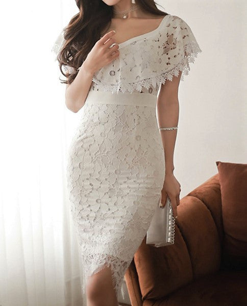 Alexis Lace Dress White