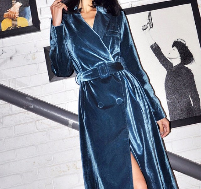 Esposa Velvet Trench Coat