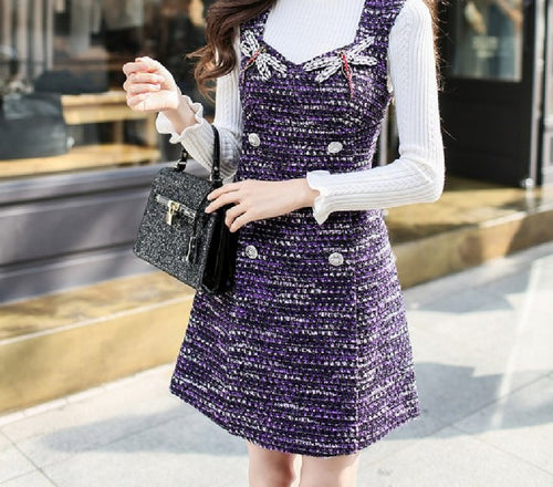 Karly Vintage Tweed Dress
