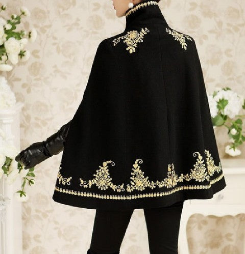 Victorian Vintage Embroidered Cloak