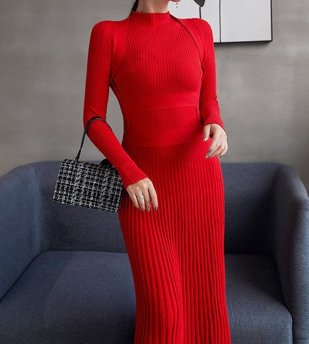 Hessa Knit Dress Red