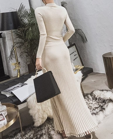 Hessa Knit Dress Beige
