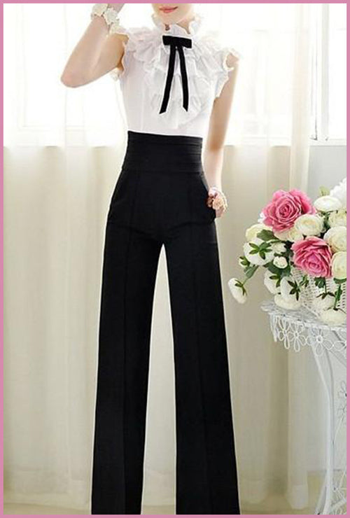 High Waisted Wide Long Pants