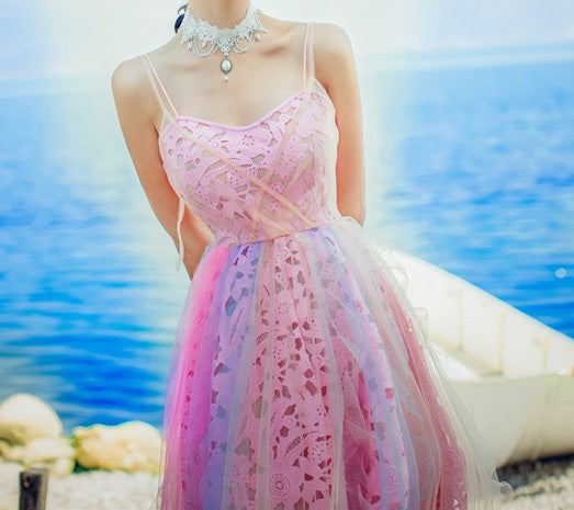 Mary Rainbow Dress