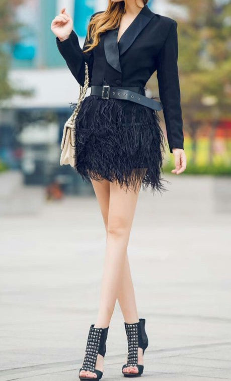 Black Perlota Tassel Dress