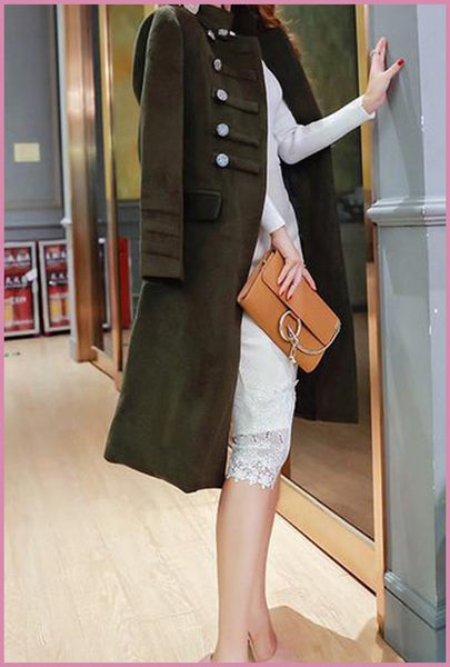 Military Glam Fleece Coat