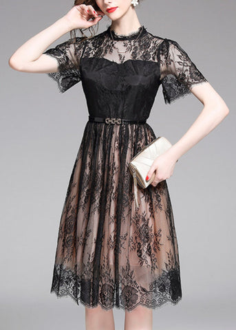 Adorned French Lace Dress