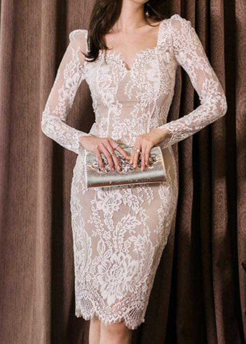 Matera Lace Dress White