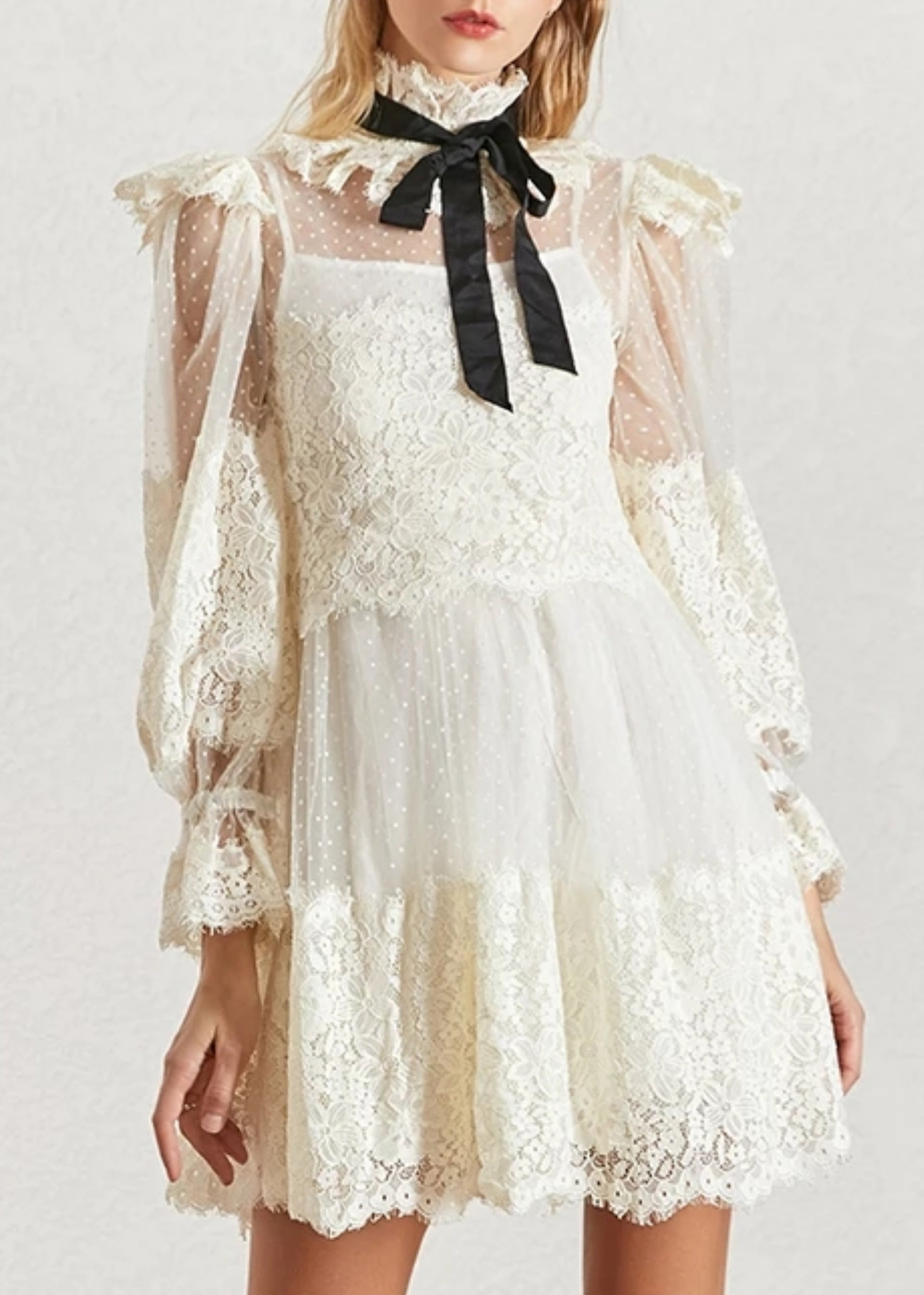 Alysse Vintage Lace Dress