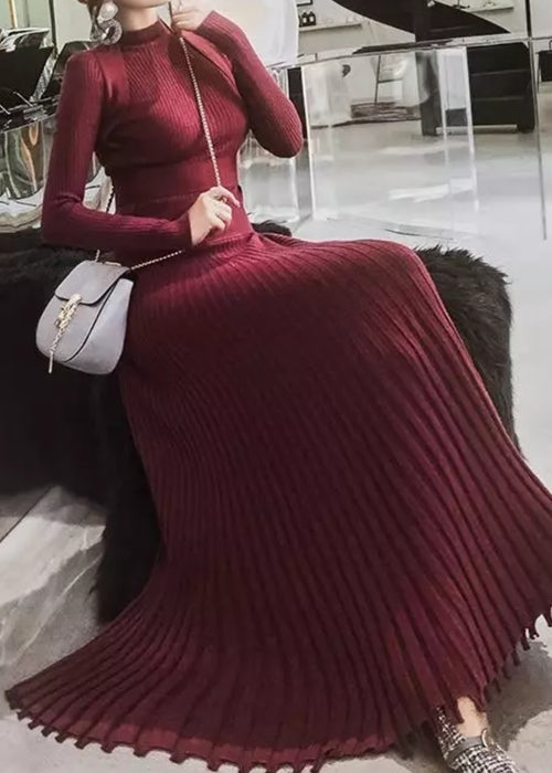 Hessa Knit Dress Maroon